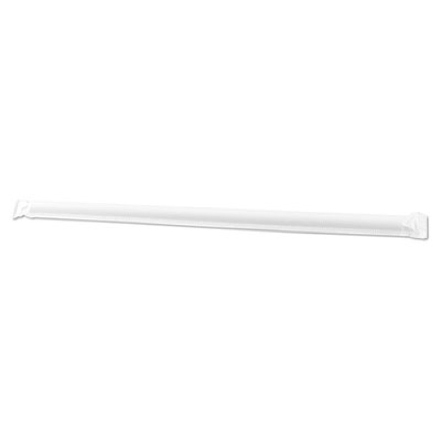 STRAWS STRAWS - Enviroware Jumbo Straws, Wrapped, 7 3/4, ClearLarge wrapped drinking straws.JUMBO BI