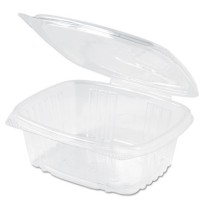 Hinged Container Hinged Container - Plastic deli containers.CNTNR,PLAS HING,12OZ,200Clear Hinged Del