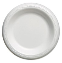 FOAM PLATES FOAM PLATES - Elite Laminated Foam Plates, 6 Inches, White, Round, 125/PackGenpak  Elite