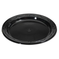 PLASTIC PLATES PLASTIC PLATES - Silhouette Black Plastic Plates, 6 Inches, Round, 125/PackGenpak  Si