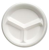 """FOAM PLATES FOAM PLATES - Celebrity Foam Dinnerware, 10.25"""", 3-C Plate, WhiteGenpak  Celebrity Foam"""