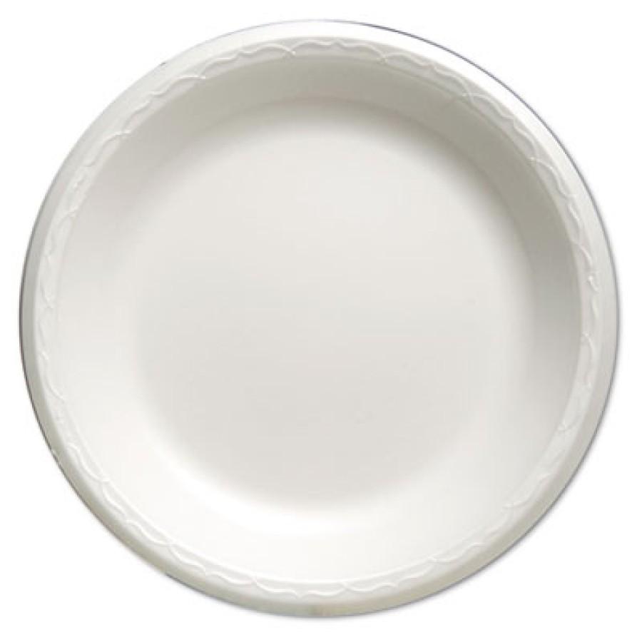"""FOAM PLATES FOAM PLATES - Celebrity Foam Dinnerware, 10.25"""" Plate, WhiteGenpak  Celebrity Foam Dinne"""