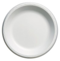 FOAM PLATES FOAM PLATES - Elite Laminated Foam Plates, 10 1/4 Inches, White, Round, 125/PackGenpak