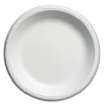 FOAM PLATES FOAM PLATES - Elite Laminated Foam Plates, 10 1/4 Inches, White, Round, 125/PackGenpak
