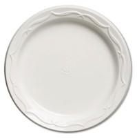 PLASTIC PLATES PLASTIC PLATES - Aristocrat Plastic Plates, 6 Inches, White, Round, 125/PackGenpak  A