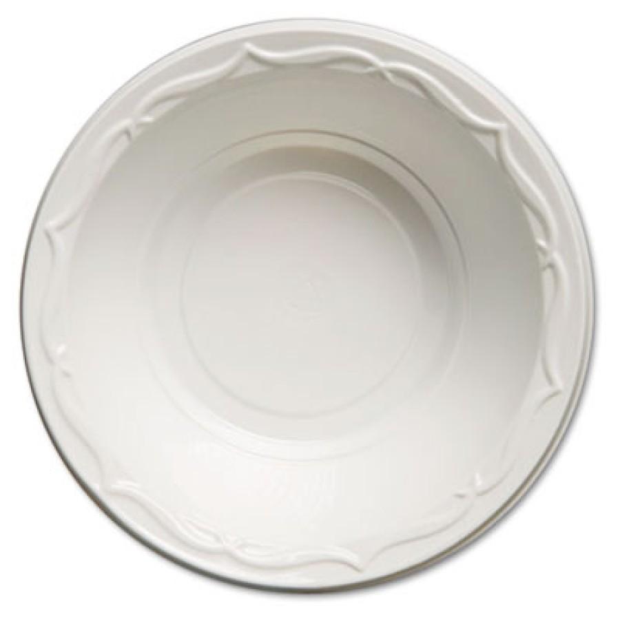 PLASTIC BOWLS PLASTIC BOWLS - Aristocrat Plastic Bowls, 12 Ounces, White, Round, 125/PackGenpak  Ari