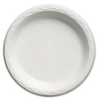PLASTIC PLATES PLASTIC PLATES - Aristocrat Plastic Plates, 9 Inches, White, Round, 125/PackGenpak  A