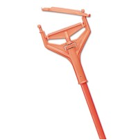 "MOP HANDLE MOP HANDLE - Plastic Speed Change Mop Handle, Fiberglass, 57"", Safety OrangeImpact  Speed"