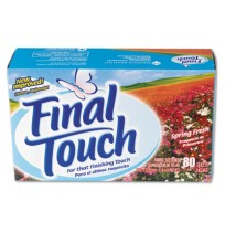 Dryer Sheet Dryer Sheet - Final Touch Dryer SheetsFT DRY SHTS,S-FRSHDryer Sheets, Spring FreshC-FINA