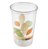 PLASTIC CUPS PLASTIC CUPS - Bare Eco-Forward RPET Cold Cups, 20 oz., Bare Design, 50/BagCold cups ma