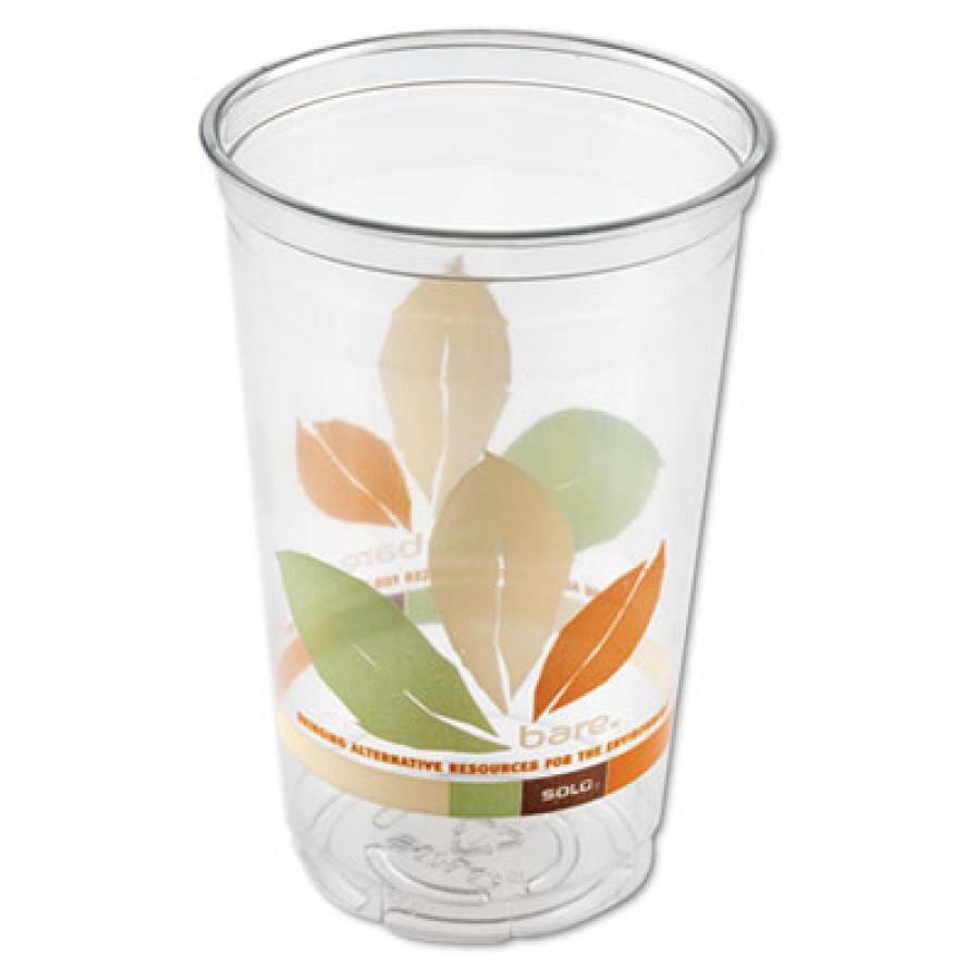 PLASTIC CUPS PLASTIC CUPS - Bare Eco-Forward RPET Cold Cups, 20 oz., Bare Design, 50/BagCold cups ma