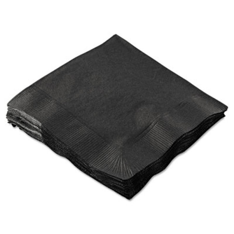 Napkin Napkin - Boardwalk  Cocktail NapkinsCOCKTAIL NAP,2P,BKCocktail Napkins, 2-Ply, 10 x 10, Black