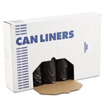 GARBAGE BAGS GARBAGE BAGS - Low-Density Can Liners, 55 gal, .65mil, 43w x 47h, Black, 25/RollBoardwa