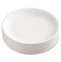 PAPER PLATE | PAPER PLATE | 12/100'S - C-GREEN LABEL PPR PLT  9IN WHI