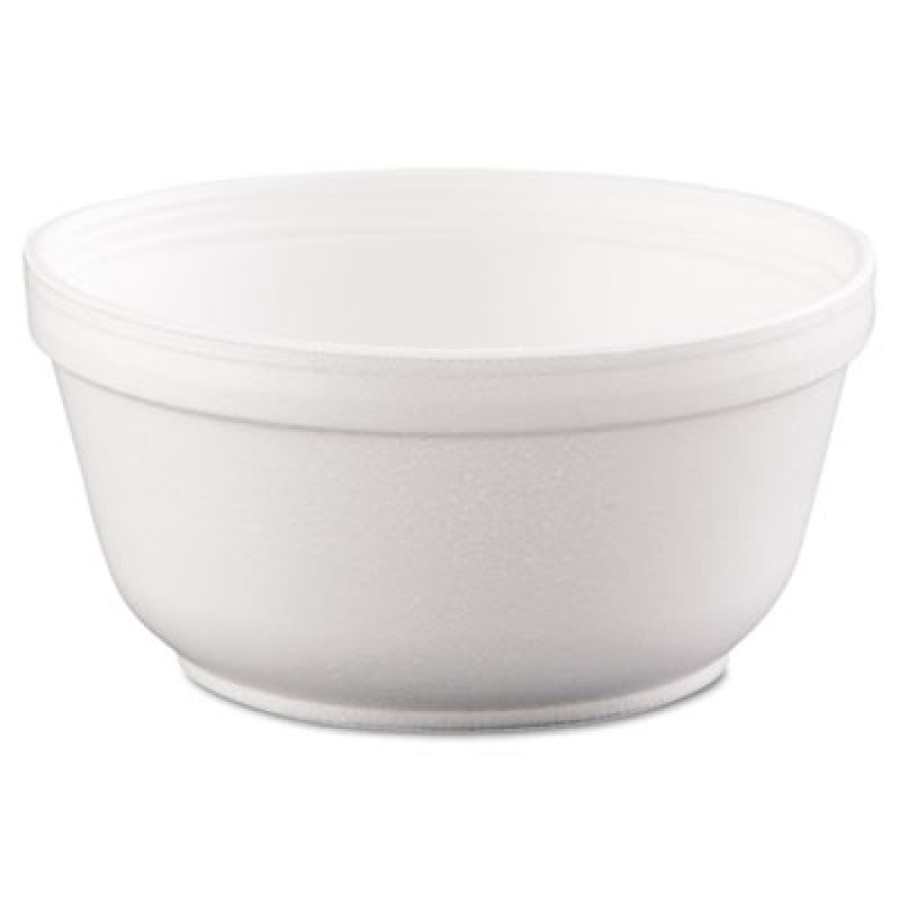 FOAM BOWLS FOAM BOWLS - Foam Bowls, 12 Ounces, White, Round, 50/PackDart  Insulated Foam BowlsC-FOAM