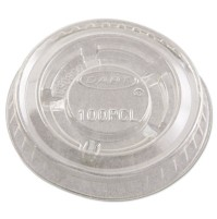 SOUFFLE CUP LIDS SOUFFLE CUP LIDS - Portion Cup Lids for 1/2-1 oz Containers, Clear, 125/SleeveDart