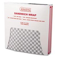 Sandwich Wrap Sandwich Wrap - Bagcraft Papercon  Grease-Resistant Paper Wrap/LinersPAPER,WRAP,CHCKR,