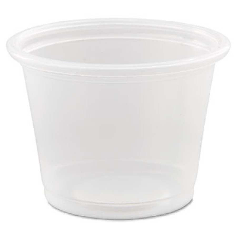 SOUFFLE CUPS SOUFFLE CUPS - Conex Polypropylene Portion Container, Clear, 1 oz, 125/BagDart  Conex