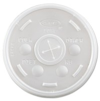 SLOTTED CUP LIDS SLOTTED CUP LIDS - Plastic Cold Cup Lids, Fits 10oz Cups, TranslucentDart  Plastic