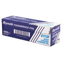 Aluminum Foil Aluminum Foil - Reynolds Wrap  Metro  Aluminum Foil RollsLGT FOIL,12X1000',STD,SLVMetr