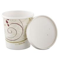 Paper Cups Paper Cups - SOLO  Cup Company Flexstyle  Double Poly Paper ContainersC-FLEX FD CNT,16OZ,