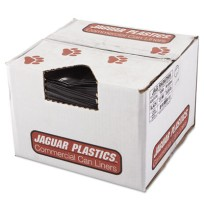 GARBAGE BAGS GARBAGE BAGS - Repro Low-Density Can Liners, 43w x 47h, BlackJaguar Plastics  Repro Low
