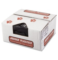 GARBAGE BAGS GARBAGE BAGS - Repro Low-Density Can Liners, 40w x 46h, BlackJaguar Plastics  Repro Low