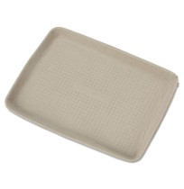 Food Tray Food Tray - Chinet  StrongHolder  Molded Fiber Food TraysMLD FBR TRAY,9X12,BEIGEStrongHold