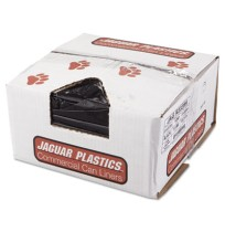 GARBAGE BAGS GARBAGE BAGS - Repro Low-Density Can Liners, 33w x 39h, BlackJaguar Plastics  Repro Low