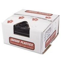 GARBAGE BAGS GARBAGE BAGS - Repro Low-Density Can Liners, 33w x 39h, BlackJaguar Plastics  Repro Low