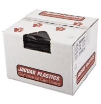 GARBAGE BAGS GARBAGE BAGS - Repro Low-Density Can Liners, 40w x 46h, BlackJaguar Plastics  Repro Low