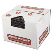 GARBAGE BAGS GARBAGE BAGS - Repro Low-Density Can Liners, 38w x 58h, BlackJaguar Plastics  Repro Low