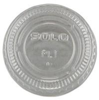 SOUFFLE CUPS SOUFFLE CUPS - No-Slot Plastic Cup Lids, .75-1.5oz Cups, ClearSOLO  Cup Company No-Slot