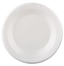 FOAM PLATES FOAM PLATES - Foam Plastic Plates, 10 1/4 Inches, White, Round, 125/PackDart  Quiet Clas