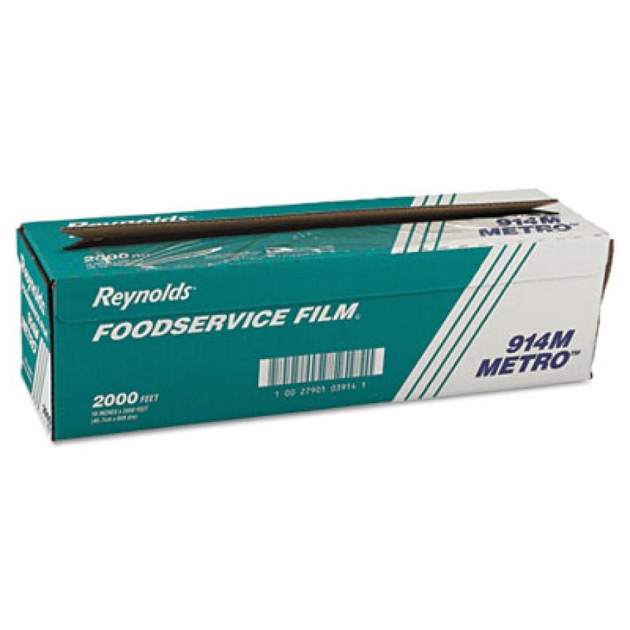 Saran Wrap Saran Wrap - Reynolds Wrap  Metro  Light-Duty Film with Cutter BoxPVC FOOD FILM18X2000',C