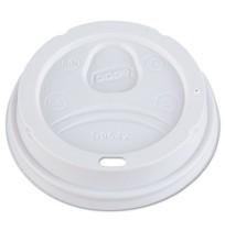 HOT CUP LIDS HOT CUP LIDS - Dome Drink-Thru Lids, Fits 12 oz. & 16 oz. Paper Hot Cups, WhiteDixie  D