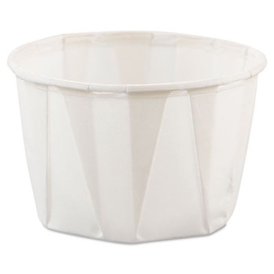 SOUFFLE CUPS SOUFFLE CUPS - Treated Paper Souffl  Portion Cups, 2 oz., White, 250/BagSOLO  Cup Compa