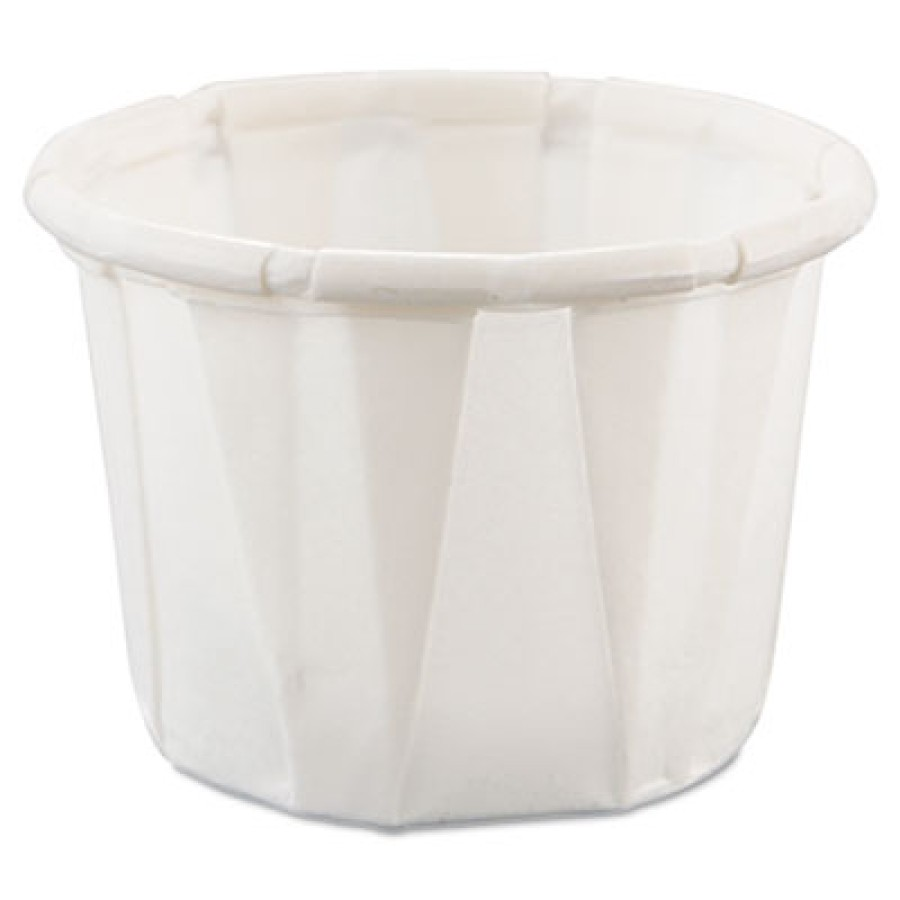 SOUFFLE CUPS SOUFFLE CUPS - Treated Paper Souffl  Portion Cups, 1/2 oz., White, 250/BagSOLO  Cup Com