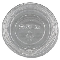 SOUFFLE CUPS SOUFFLE CUPS - No-Slot Plastic Cup Lids, 1.5-3.5oz Cups, ClearSOLO  Cup Company No-Slot