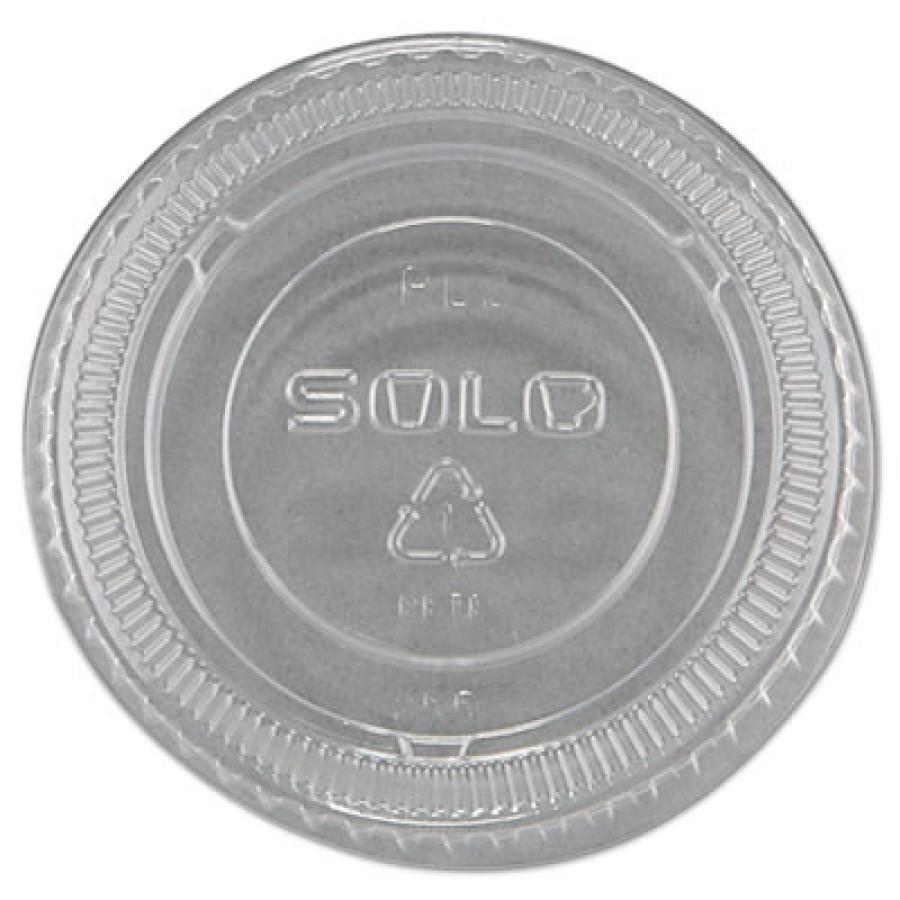 SOUFFLE CUPS SOUFFLE CUPS - No-Slot Plastic Cup Lids, 1.5-3.5oz Cups, ClearSOLO  Cup Company No-Slot