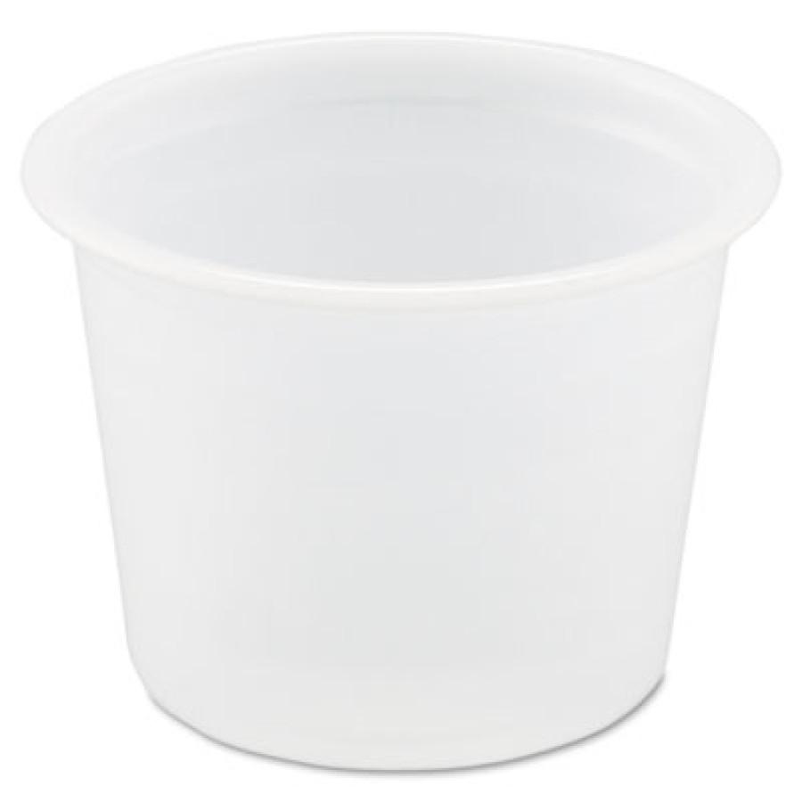 SOUFFLE CUPS SOUFFLE CUPS - Plastic Souffl  Portion Cups, 1 oz., Translucent, 250/BagSOLO  Cup Compa