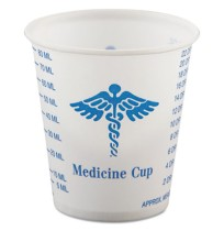 MEDICINE CUP MEDICINE CUP - Paper Medical & Dental Graduated Cups, 3 oz., White/Blue, 100/BagSOLO  C