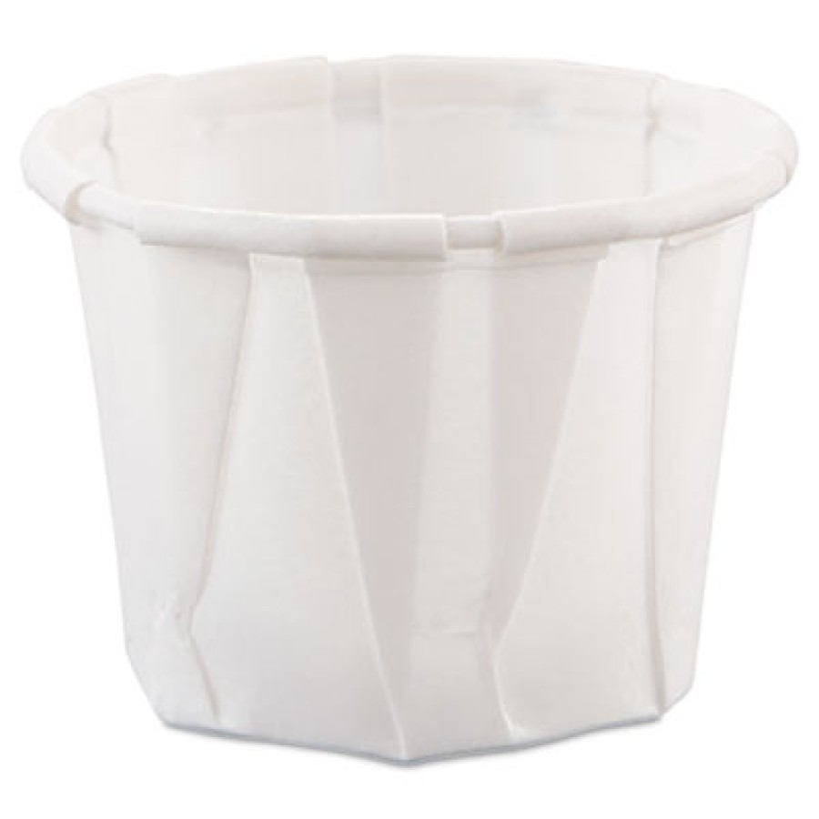 SOUFFLE CUPS SOUFFLE CUPS - Treated Paper Souffl  Portion Cups, 3/4 oz., White, 250/BagSOLO  Cup Com