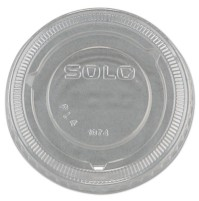 SOUFFLE CUP LIDS SOUFFLE CUP LIDS - No-Slot Plastic Cup Lid, 3.25-9oz Cups, Clear, 20 Sleeves of 125