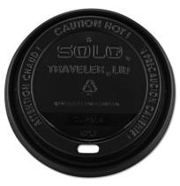 HOT CUP LIDS HOT CUP LIDS - Traveler Drink-Thru Lids, 10-24oz Cups, BlackSOLO  Cup Company Traveler