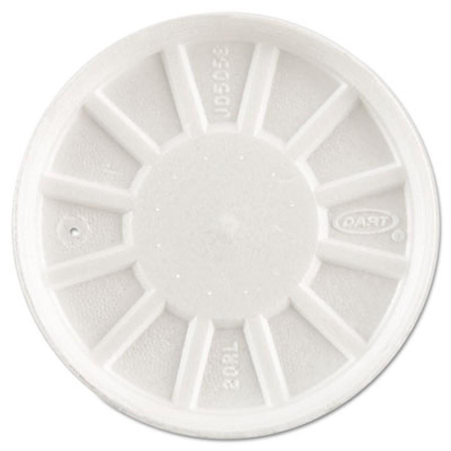 CUP LIDS CUP LIDS - Vented Foam Lids, Fits 6-32oz Cups, WhiteDart  Vented Foam LidsC-VNTD FOAM LID F
