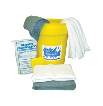 HAZMAT SPILL KIT HAZMAT SPILL KIT - UNIVERSAL/CHEMICAL SPILL KIT30 GALLON CONTAINER KITS UNIVERSAL/C