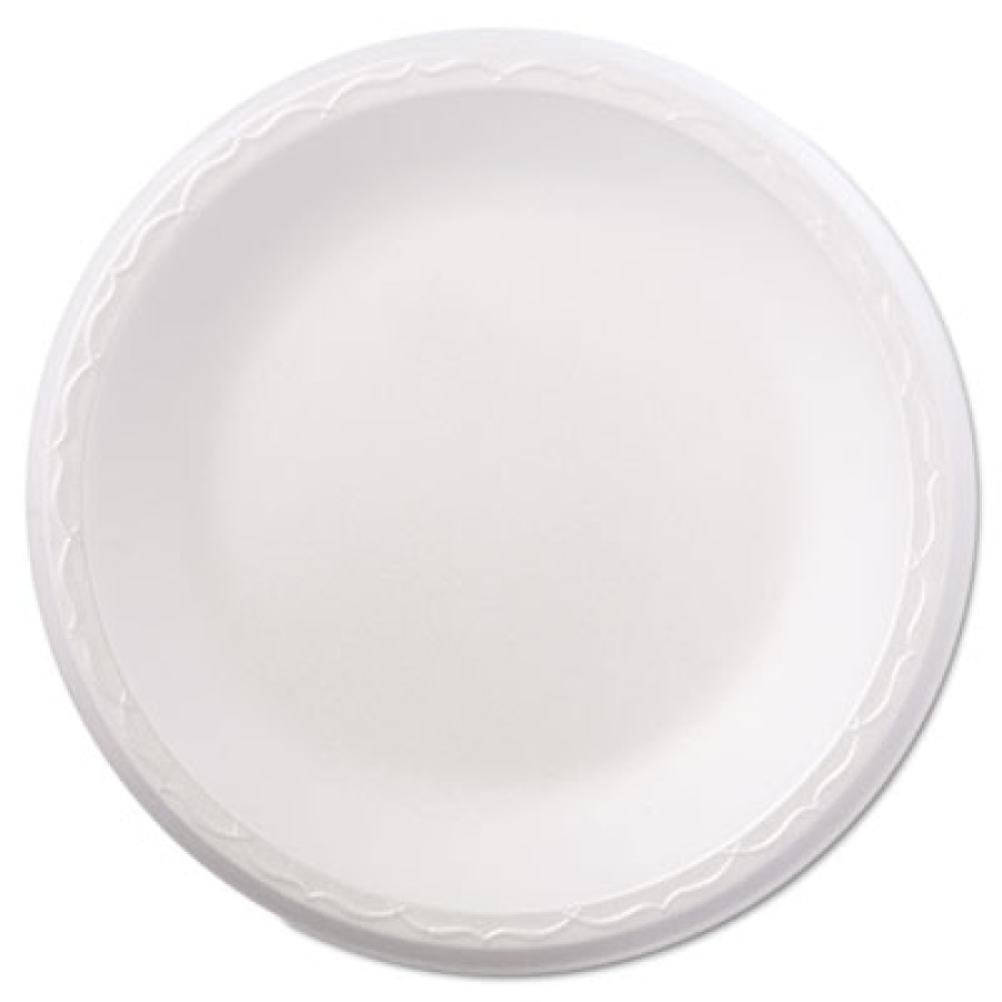 "FOAM PLATES FOAM PLATES - Celebrity Foam Dinnerware, 8.88"" Plate, WhiteGenpak  Celebrity Foam Dinner"