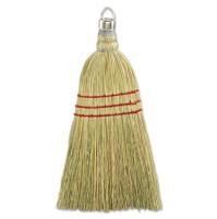 "CORN BROOM CORN BROOM - Whisk Broom, Corn Fiber Bristles, 10"" Wood Handle, YellowUNISAN Corn Whisk B"