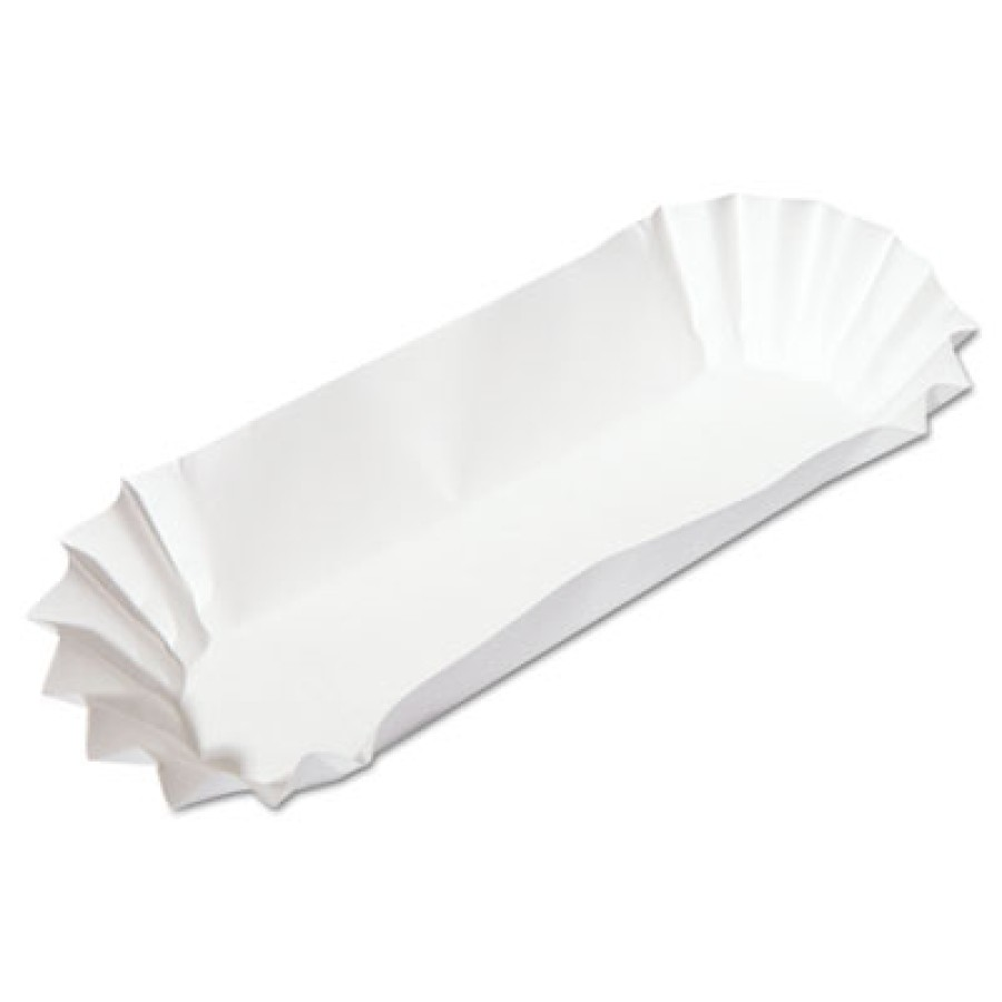"Hot Dog Paper Hot Dog Paper - Hoffmaster  Fluted Hot Dog TraysHOTDOG TRAY,6"",WEFluted Hot Dog Trays,"